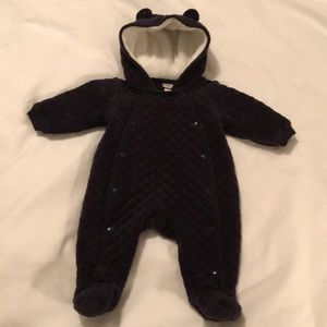 Navy blue quilted Nordstrom Baby One-piece  3month